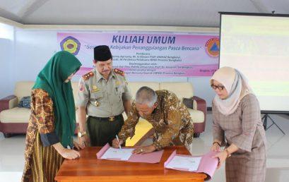 BNPB Provinsi Bengkulu Berikan Kuliah Umum Kepada Mahasiswa FISIPOL UNIHAZ