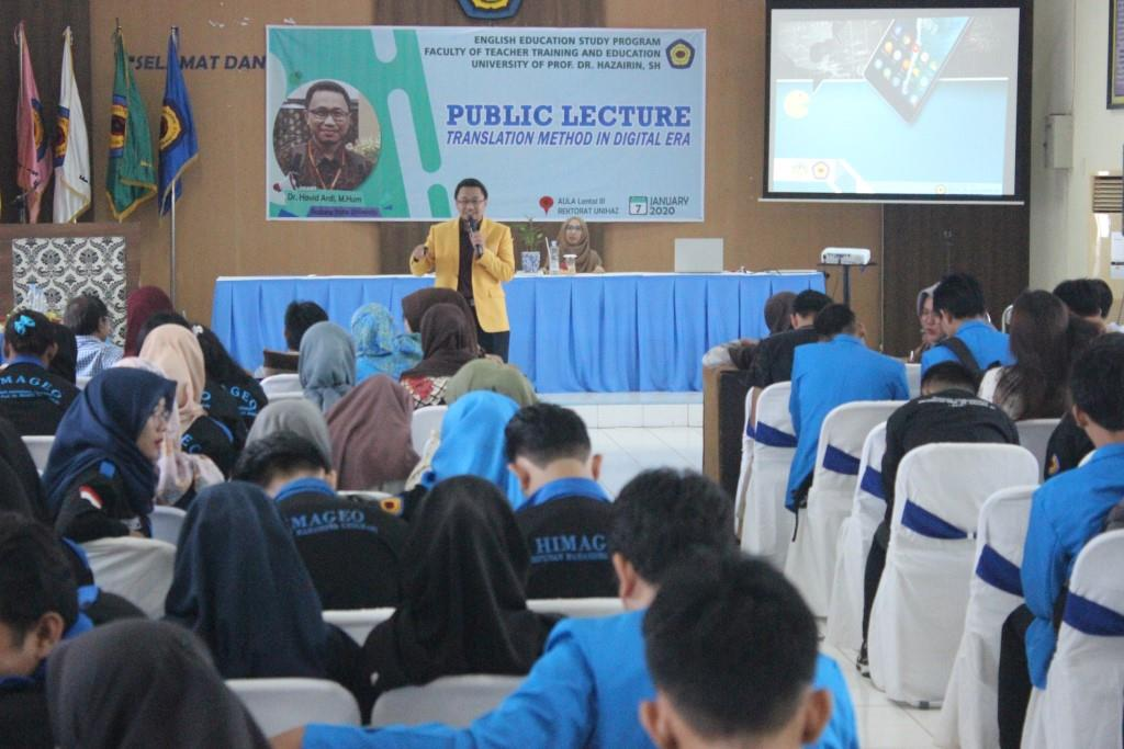 "Public Lecture ""Translation Method In Digital Era"""