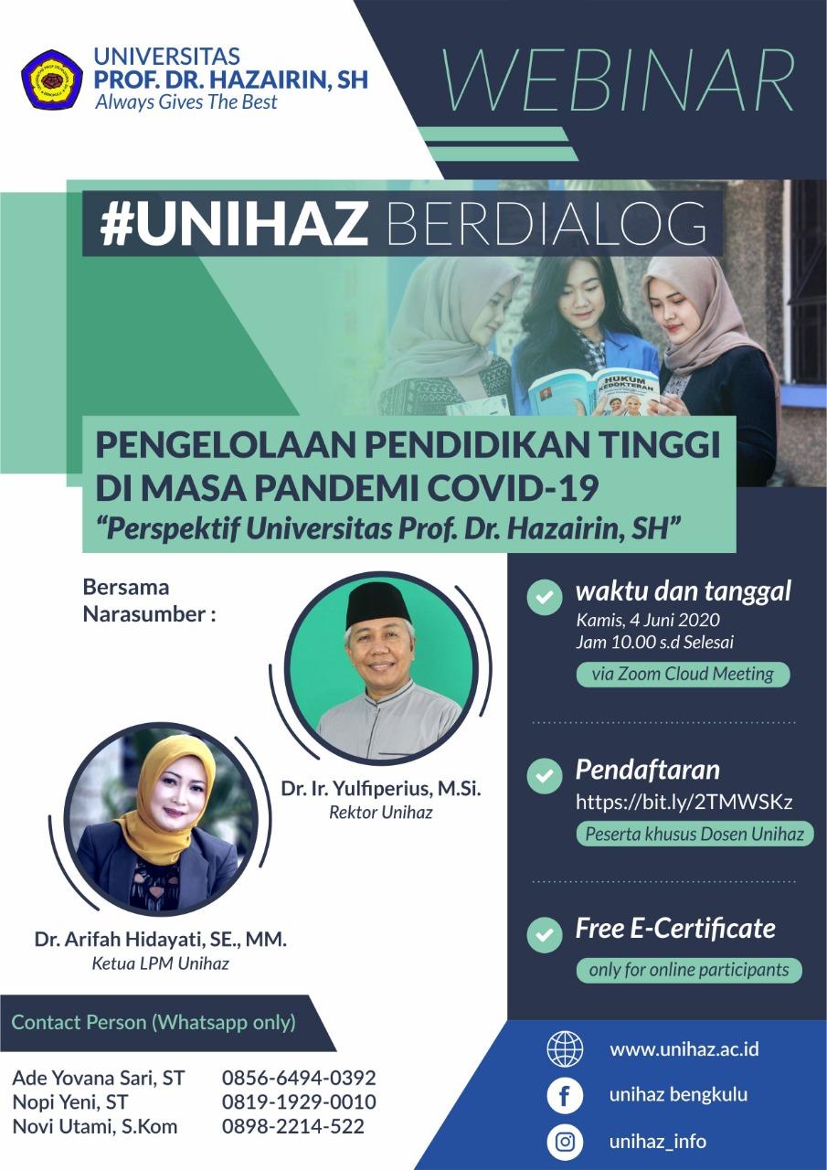 Webinar #unihazberdialog
