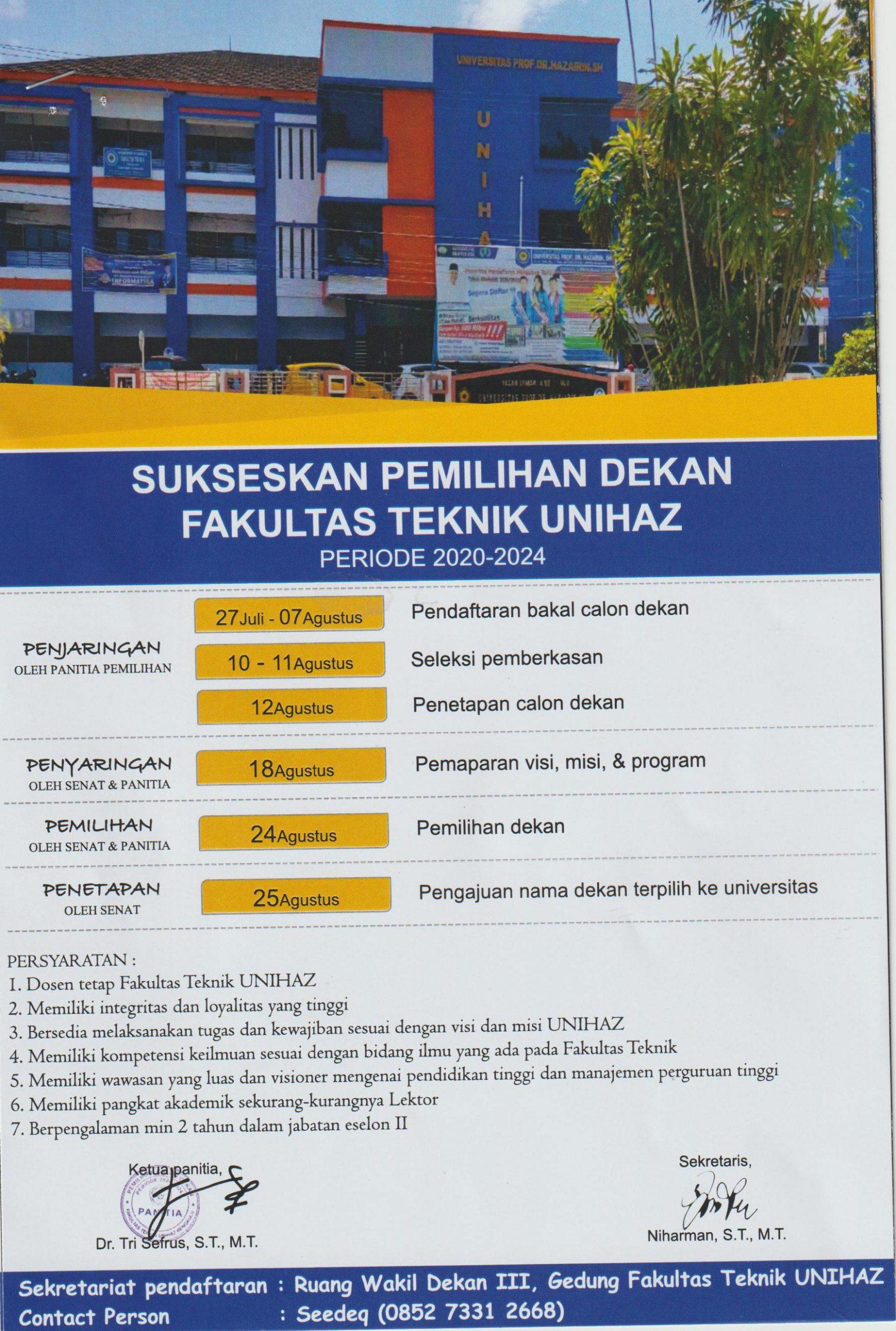 Pemilihan Dekan Fakultas Teknik