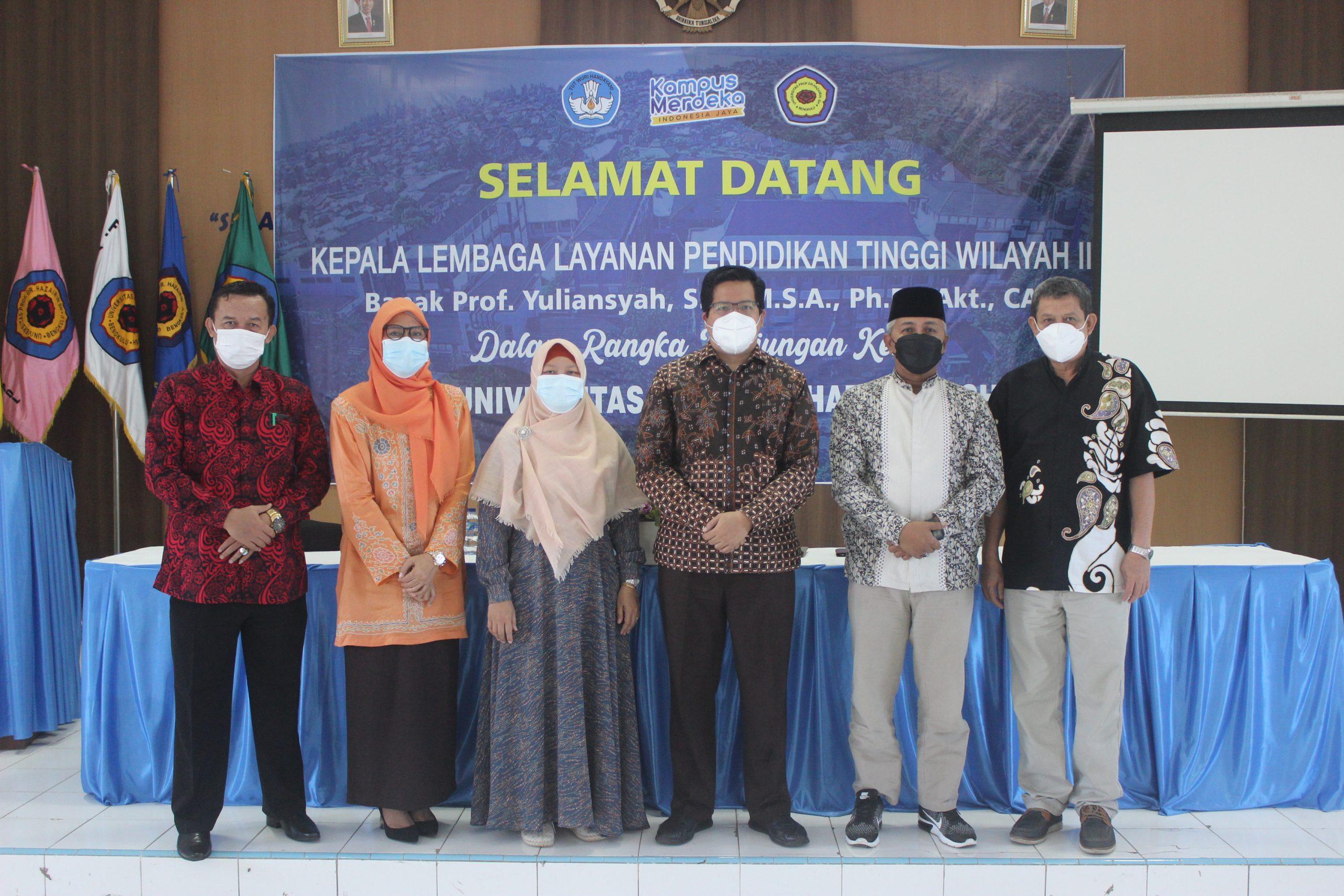 Kunjungan Kerja Kepala Lembaga Layanan Pendidikan Tinggi Wilayah II ke Universitas Prof. Dr. Hazairin, SH